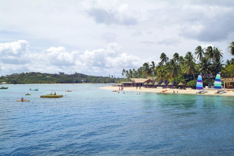 Fijiansk ö fotografering för bildbyråer