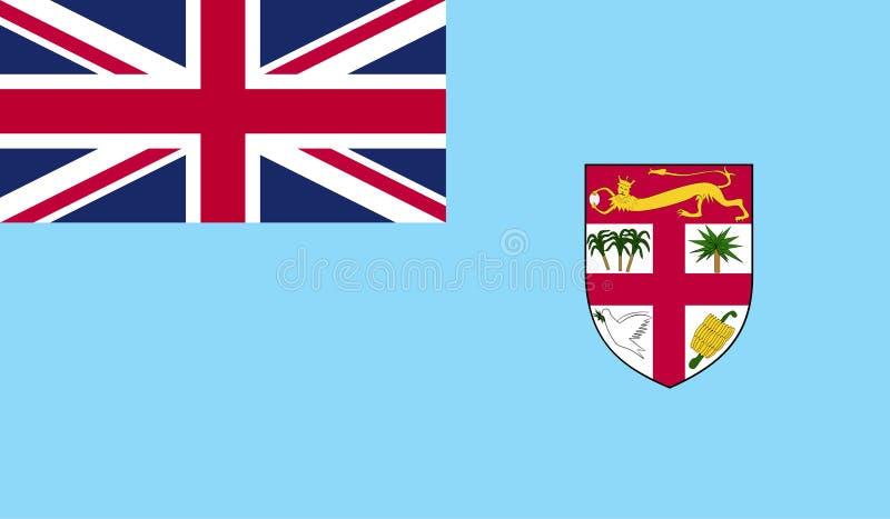 Fijiansk flaggabild stock illustrationer