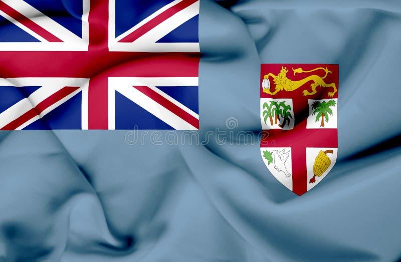 Fijiansk vinkande flagga vektor illustrationer