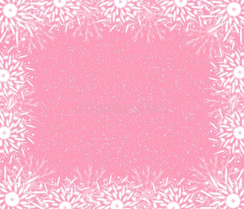 Fijn rooskleurig frame royalty-vrije illustratie