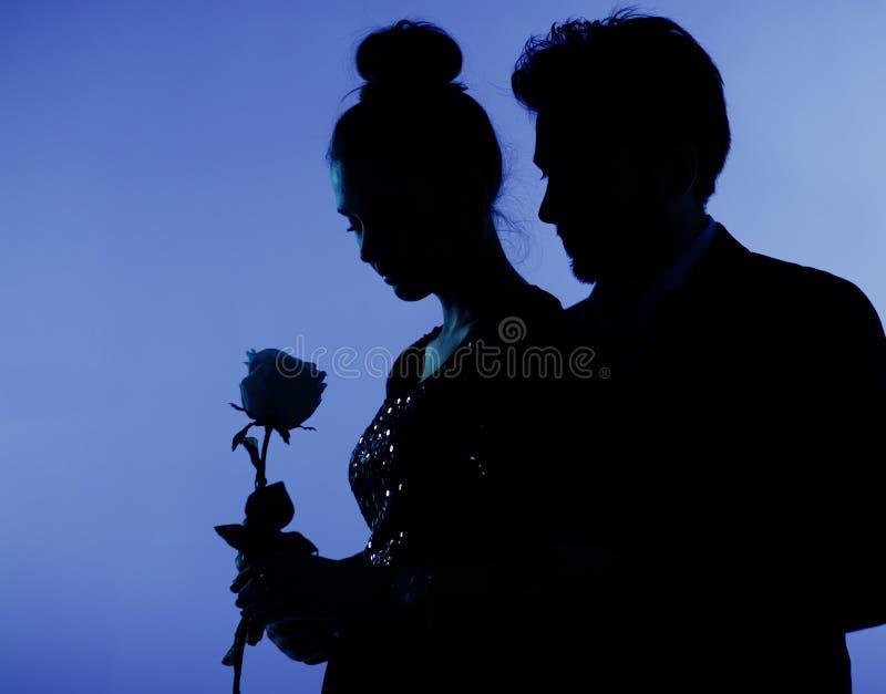 Fijne foto van het paar in liefde royalty-vrije stock afbeeldingen