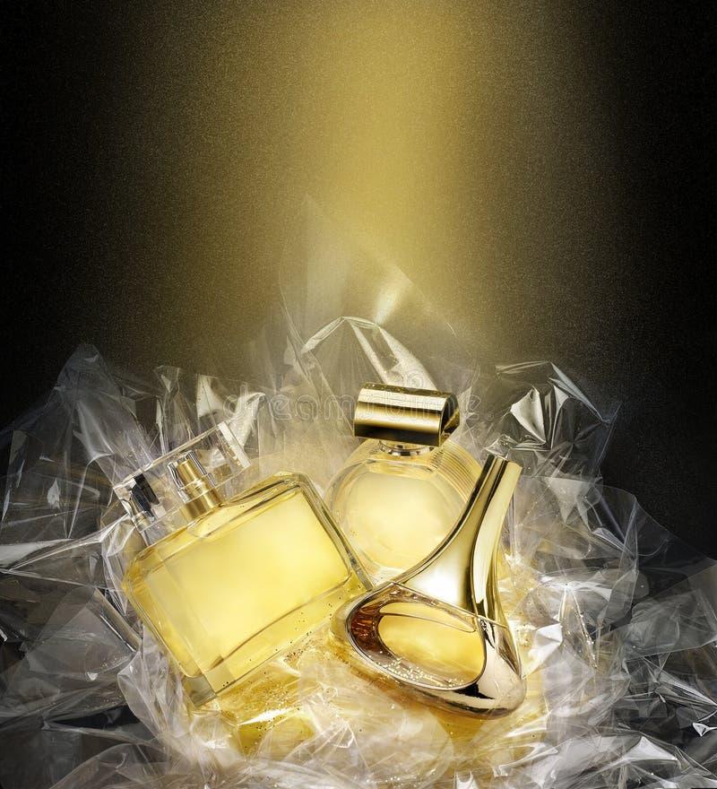 Fijne fragrances In het milieu van de Kerstmisfantasie stock afbeelding