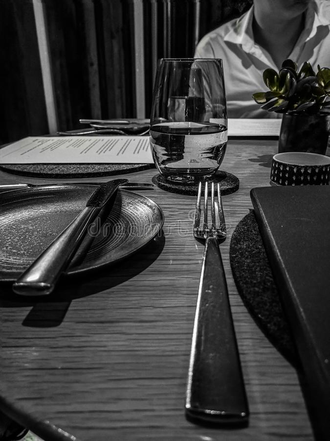 Fijne het dineren mening stock fotografie