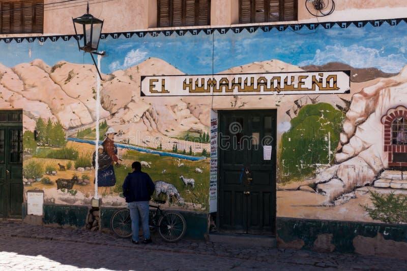 Fijne straatkunst in het noorden van Argentinië, gauchostijl royalty-vrije stock afbeeldingen