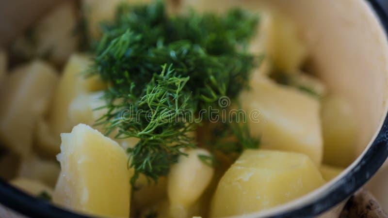 Fijngestampt koken stock foto