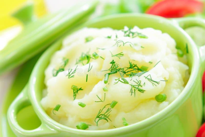Fijngestampte aardappel stock foto