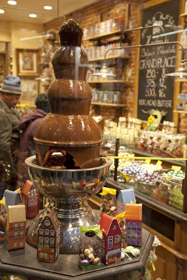 De chocolademarkt van Brussel royalty-vrije stock foto's