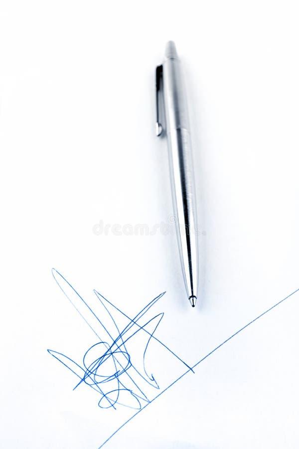 fikcyjny podpis fotografia stock