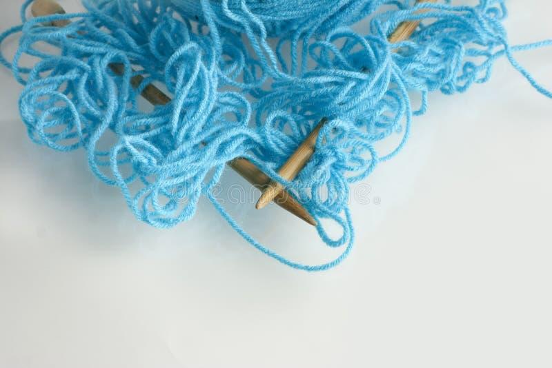 Filé bleu embrouillé image libre de droits