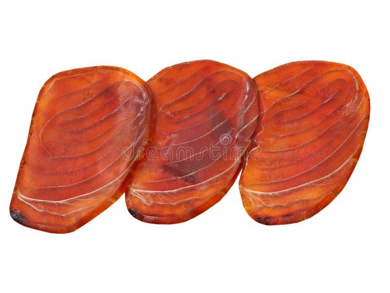 Filéer för blå marlin som tas closeupen. Isolerat. arkivfoto
