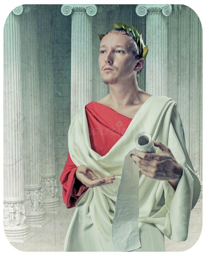 Filósofo del griego clásico foto de archivo