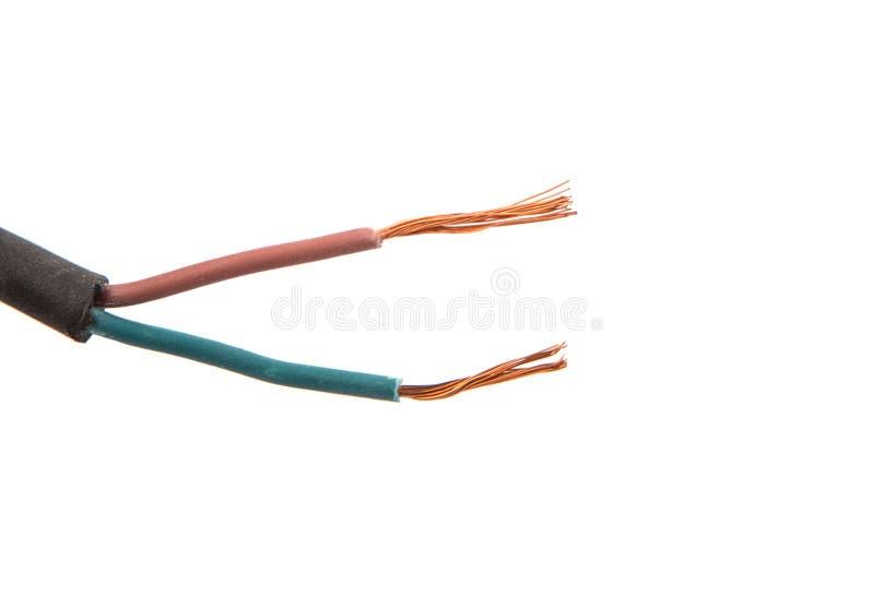 Fil électrique exposé I photos stock