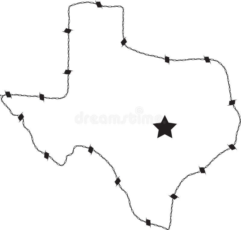 Fil de bavure du Texas illustration libre de droits