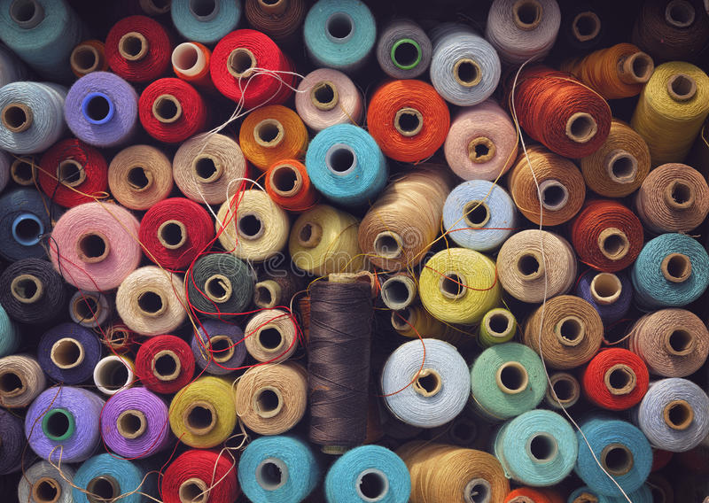 Fil de couture image stock