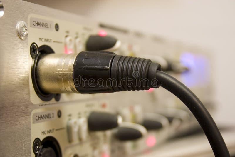 Fil de sortie de microphone image stock