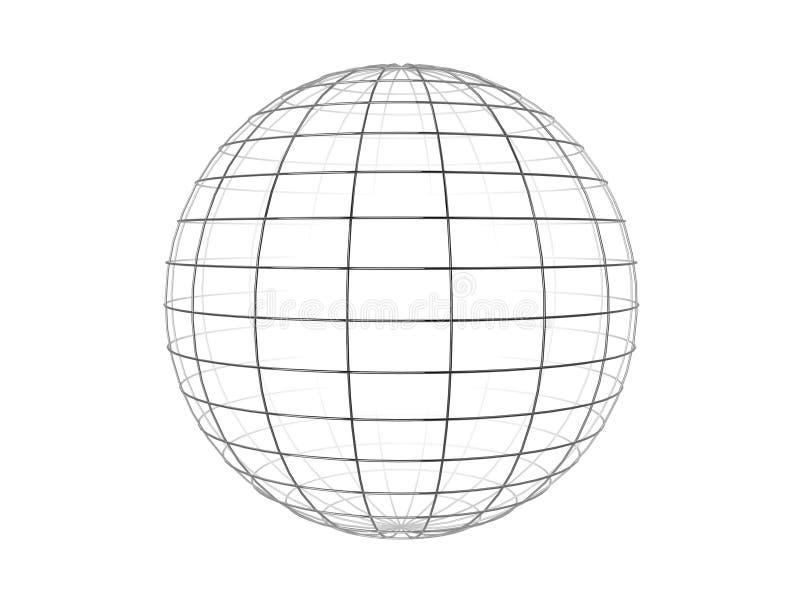 fil de sphère de trame illustration stock
