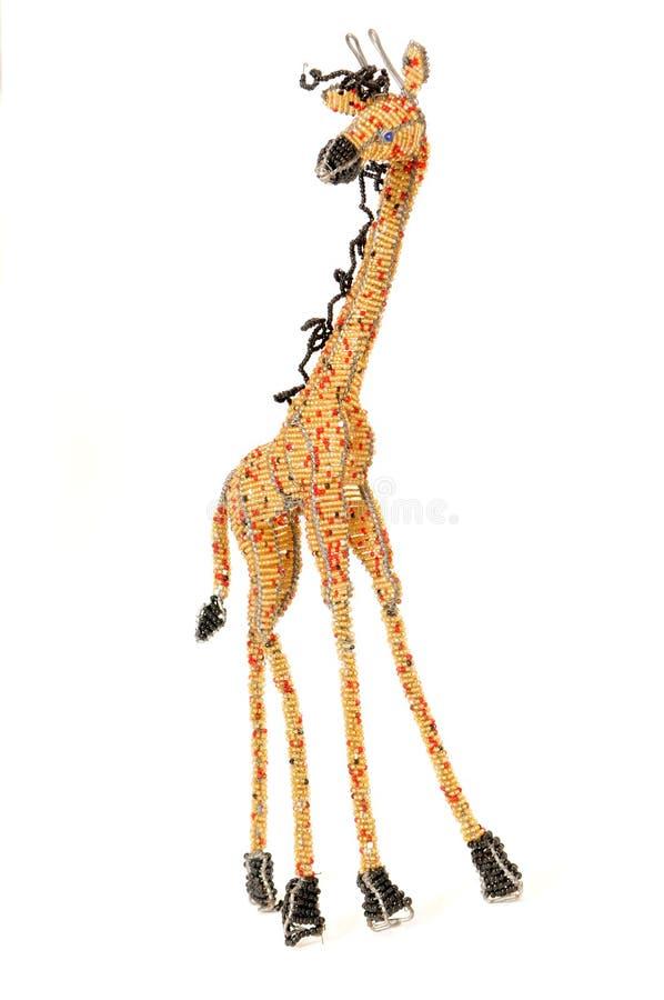 Fil et giraffe de beadwork image libre de droits