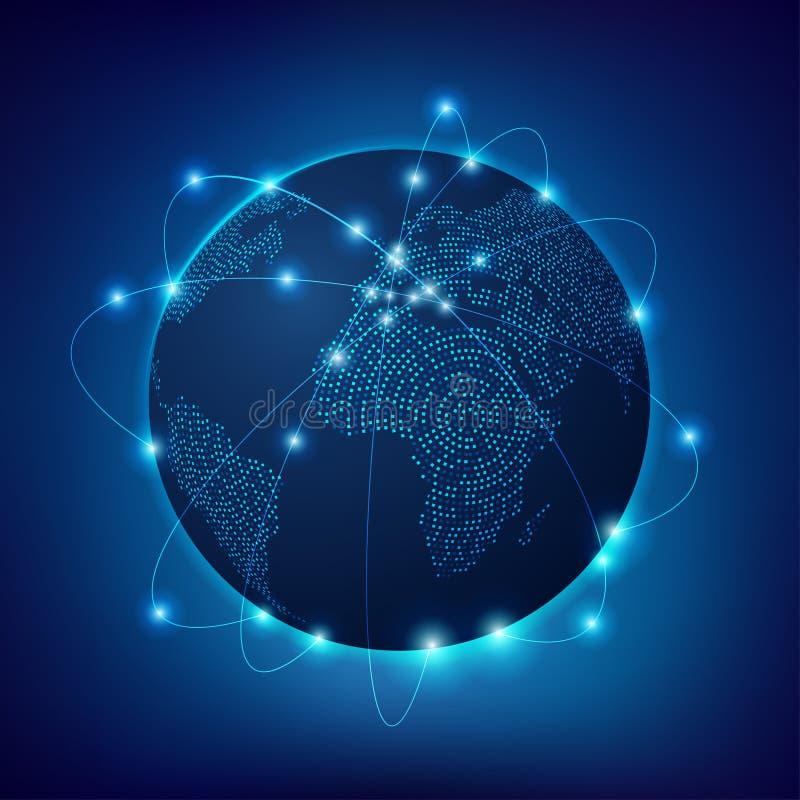 Fil global de Digital illustration stock