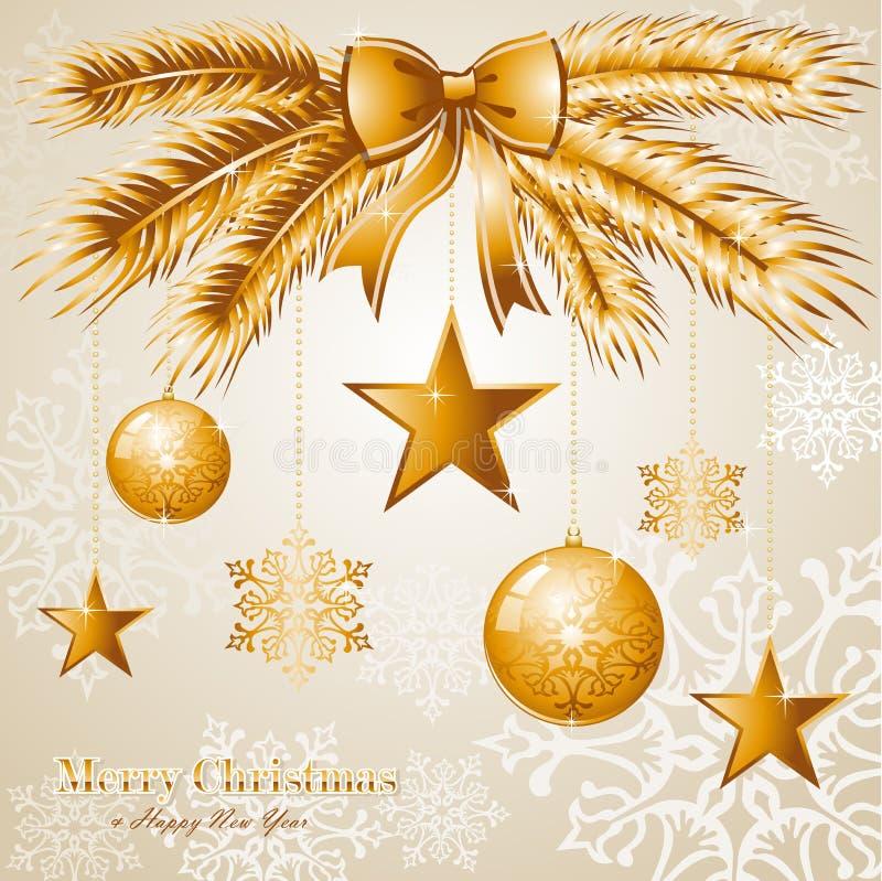 Fil luxuoso do vetor do fundo EPS10 do Feliz Natal ilustração royalty free