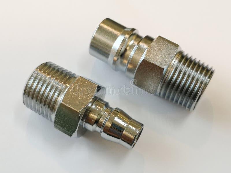 Fil masculin convenable de coupleur rapide pour les systèmes pneumatiques photo libre de droits