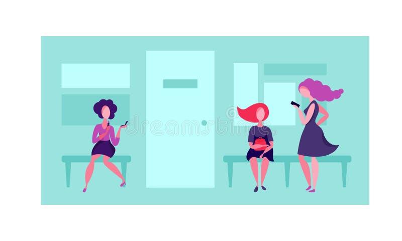 Fila ao escritório Vetor ilustração stock