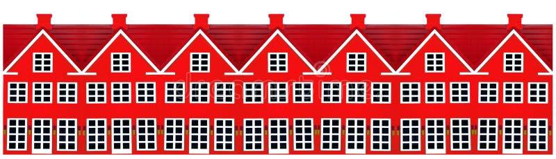 Fila de las casas del juguete imagen de archivo