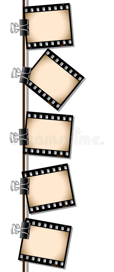 Fila de las negativas de película de la sepia libre illustration