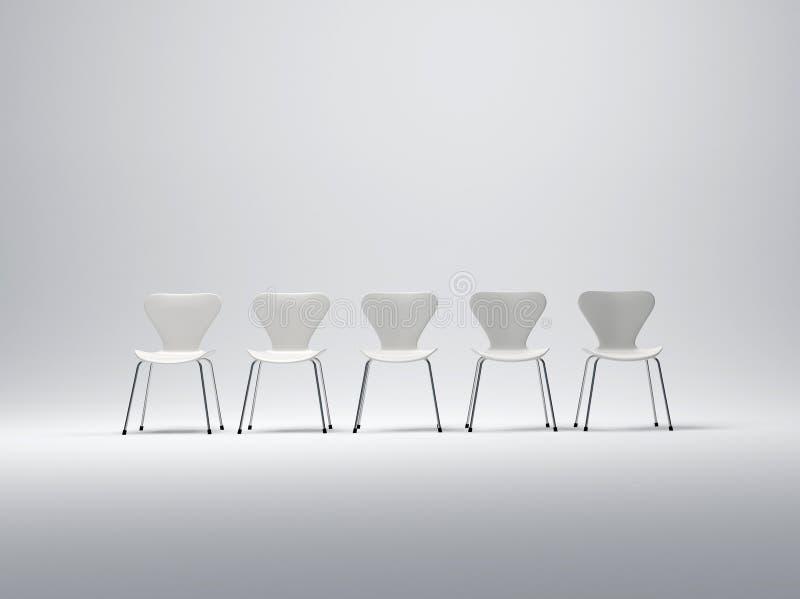 Fila de las sillas blancas libre illustration