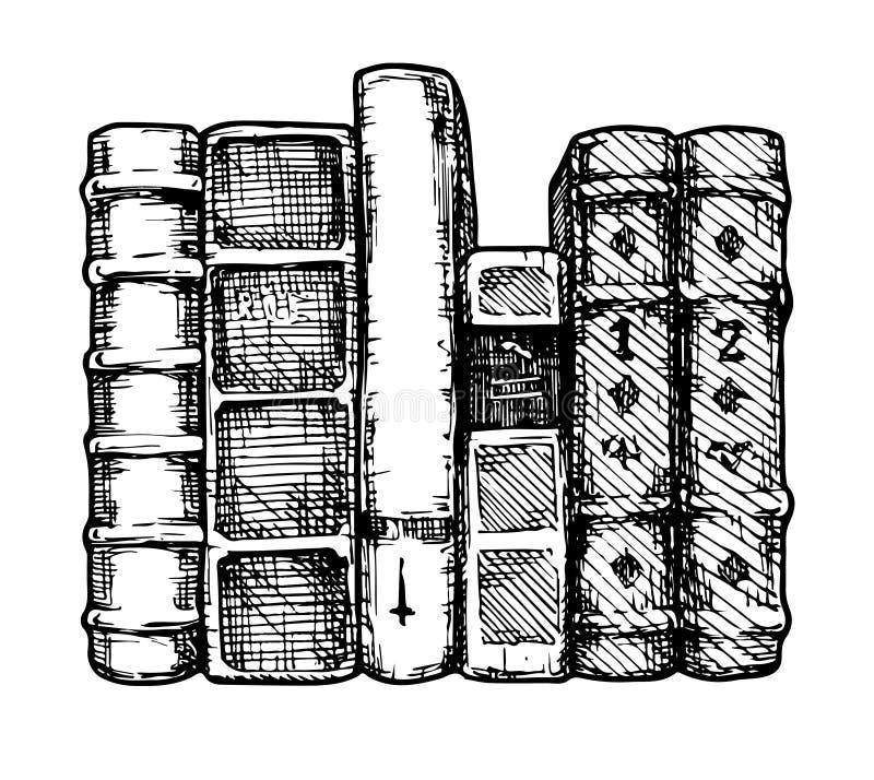 Fila de libros libre illustration