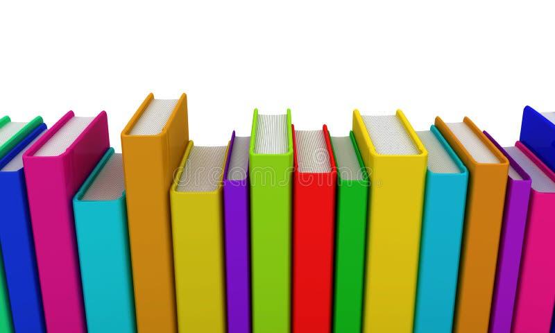 Fila de libros coloridos stock de ilustración. Ilustración de ...