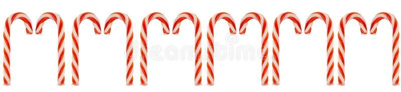 Fila de los bastones de caramelo fotos de archivo libres de regalías