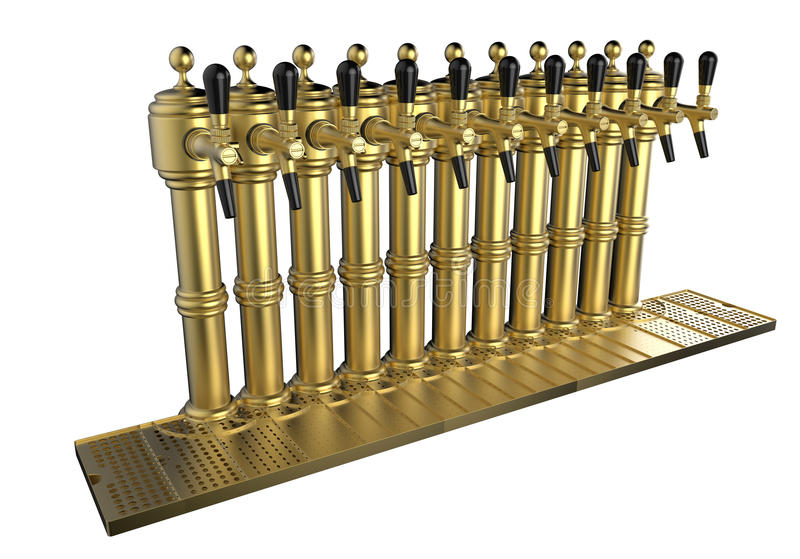 Fila de los golpecitos de la cerveza libre illustration