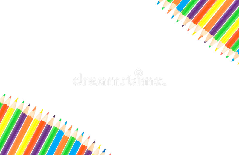 Fila de los lápices del color imágenes de archivo libres de regalías