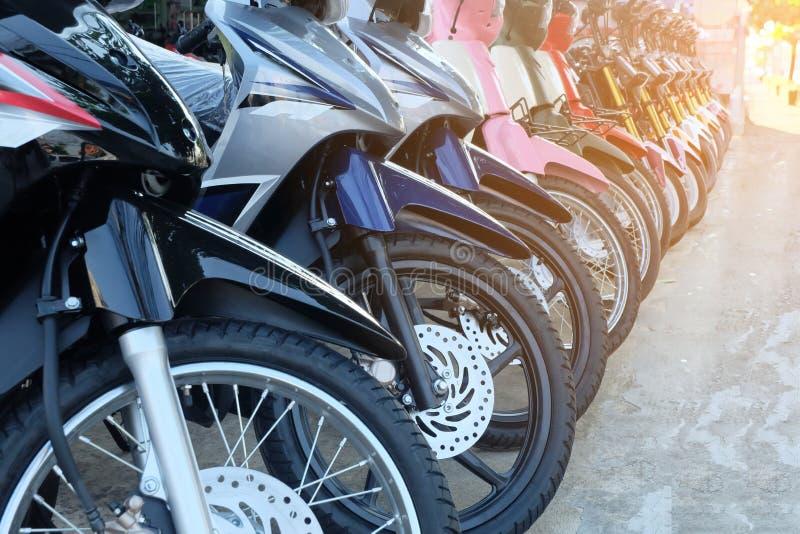 Fila de muchos motocicleta foto de archivo libre de regalías
