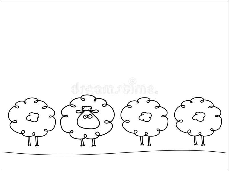 Fila de ovejas imagenes de archivo