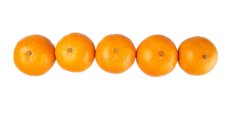 Fila dei mandarini VII immagine stock