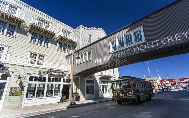 Fila del conservificio, baia di Monterey, penisola, Monterey, California, Stati Uniti d'America, Nord America immagine stock libera da diritti