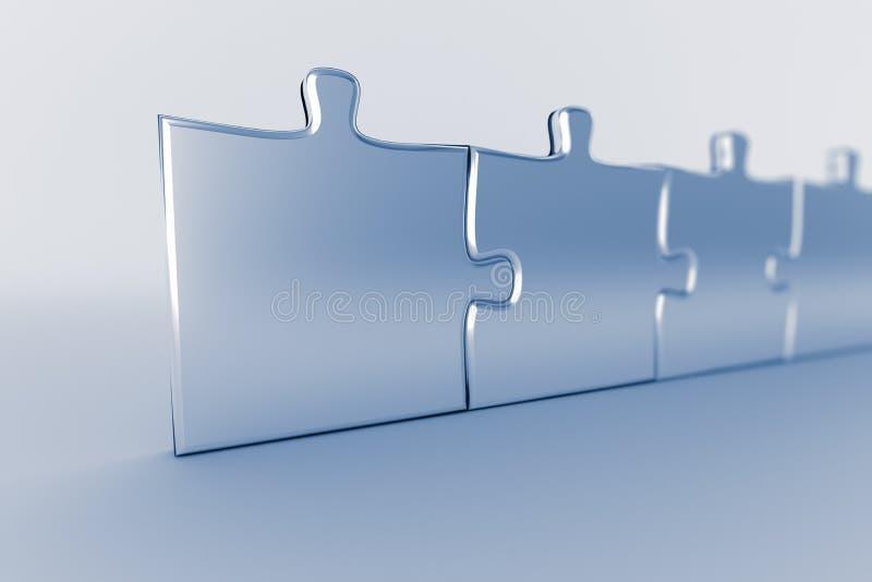 Fila del rompecabezas stock de ilustración