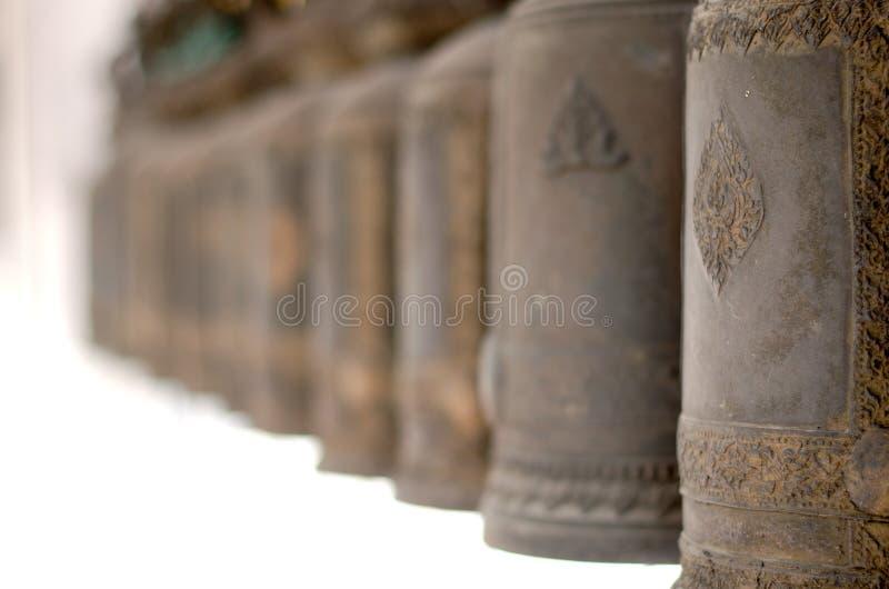 Fila del tempio tailandese Belhi immagine stock libera da diritti
