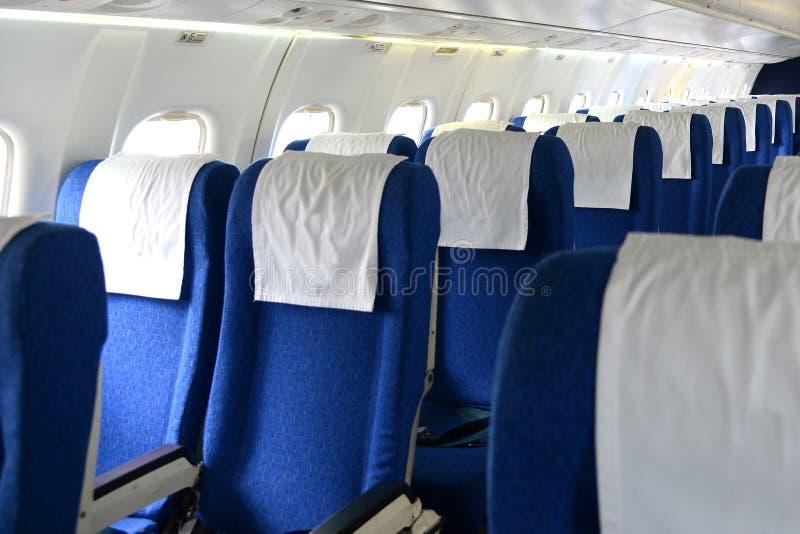 Fila dell'aeroplano Seat immagine stock libera da diritti