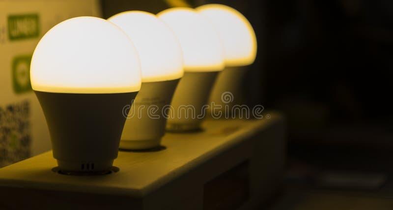fila della lampada del LED fotografia stock