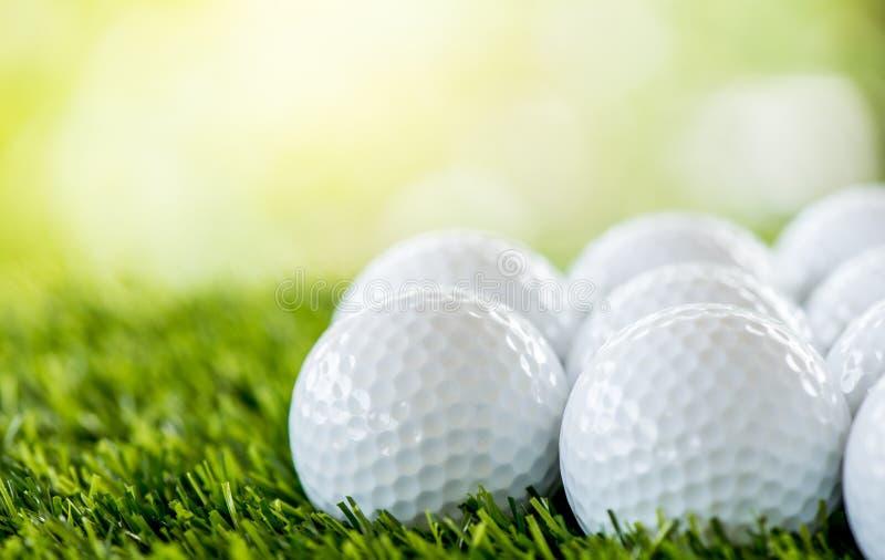 Fila della palla da golf immagine stock libera da diritti