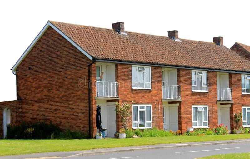 Fila delle case inglesi del terrazzo fotografie stock for Case inglesi foto