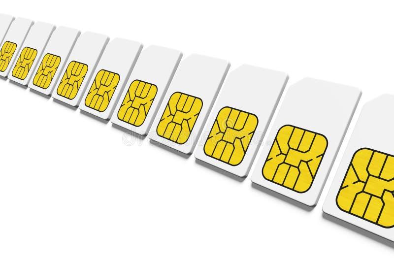 fila di carta SIM royalty illustrazione gratis