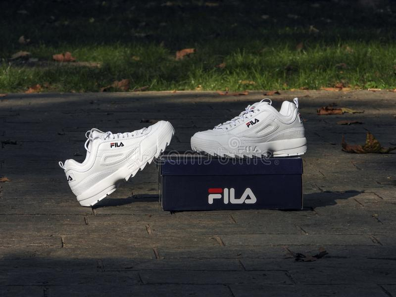 Fila Disruptor royalty free stock images