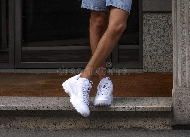 Fila Disruptor royalty free stock photo