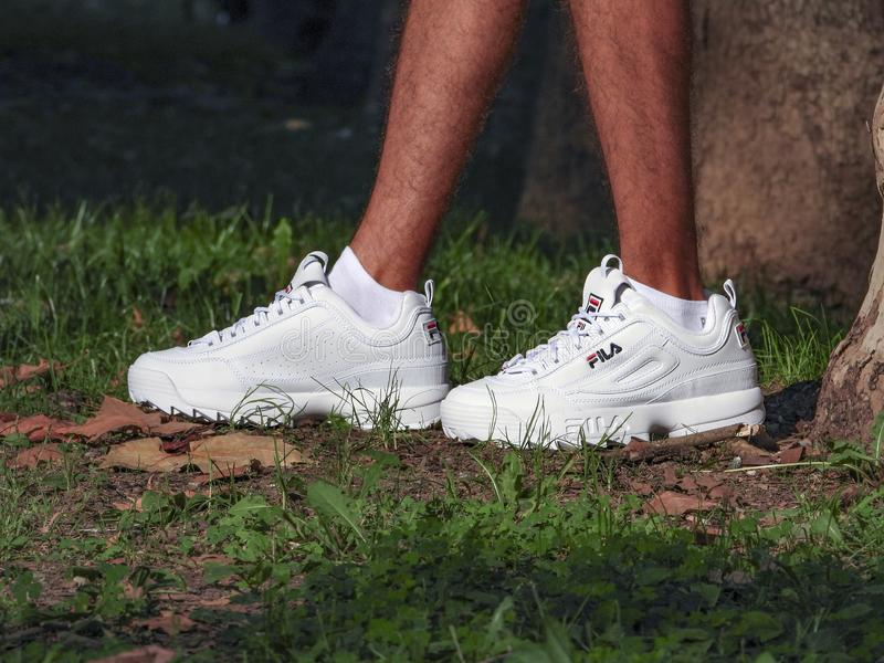 Fila Disruptor royalty free stock photos