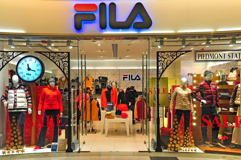 Fila outlet, hong kong. Retail outlet of fila at k11 shopping mall, hong kong stock image