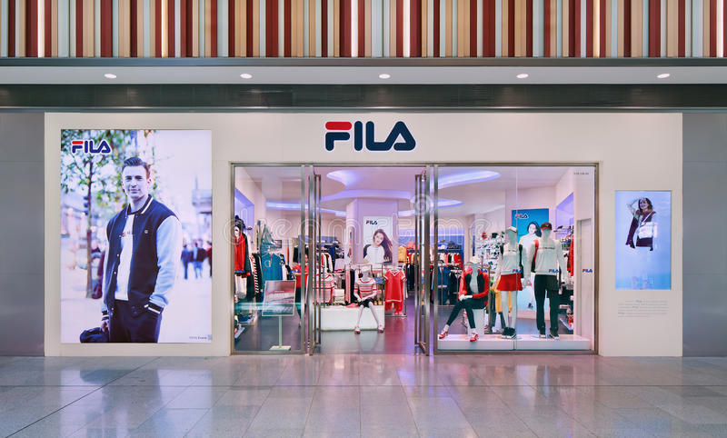 Fila outlet, Livat Shopping Mall, Beijing, China royalty free stock photography