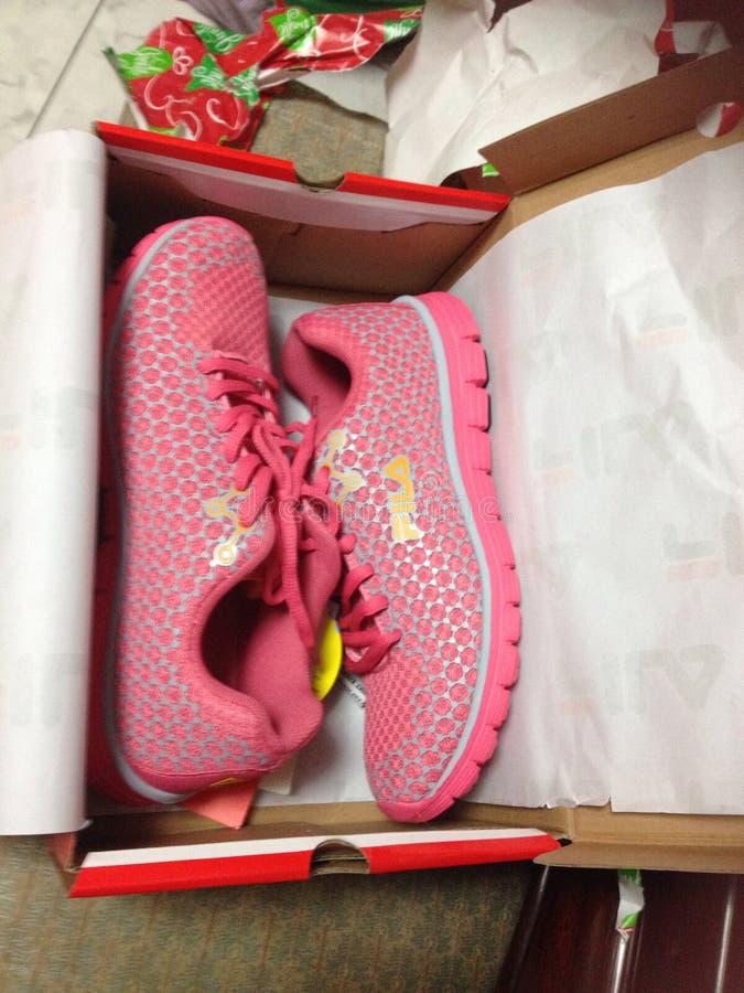 Fila. Pink Fila shoes royalty free stock photography